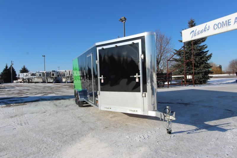 2018 Bravo Trailers 7x20 plus 5 Drive Off V Snowmobile Trailer