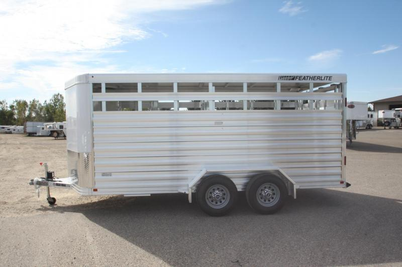 2018 Featherlite 8107 16 BP Livestock Trailer