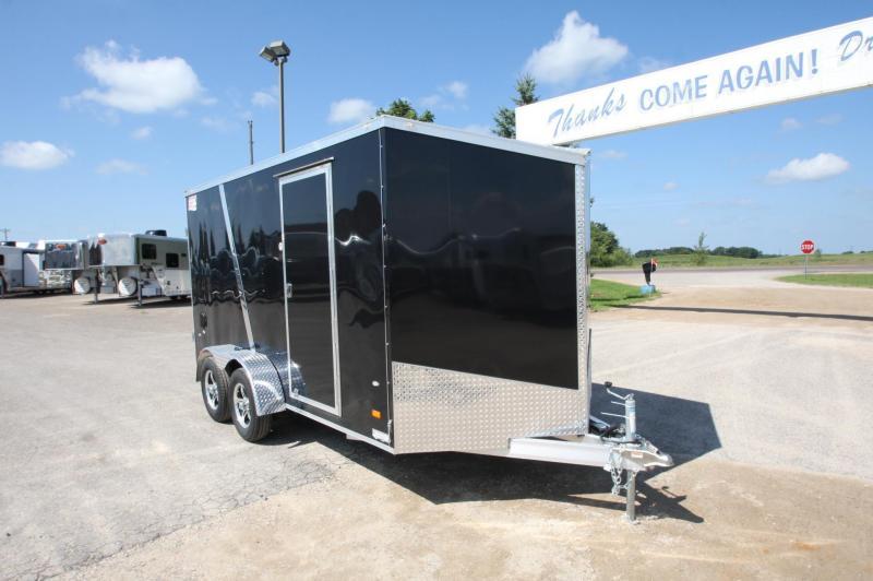 2017 American Hauler Industries 7x14 BP Aluminum Enclosed Cargo Trailer