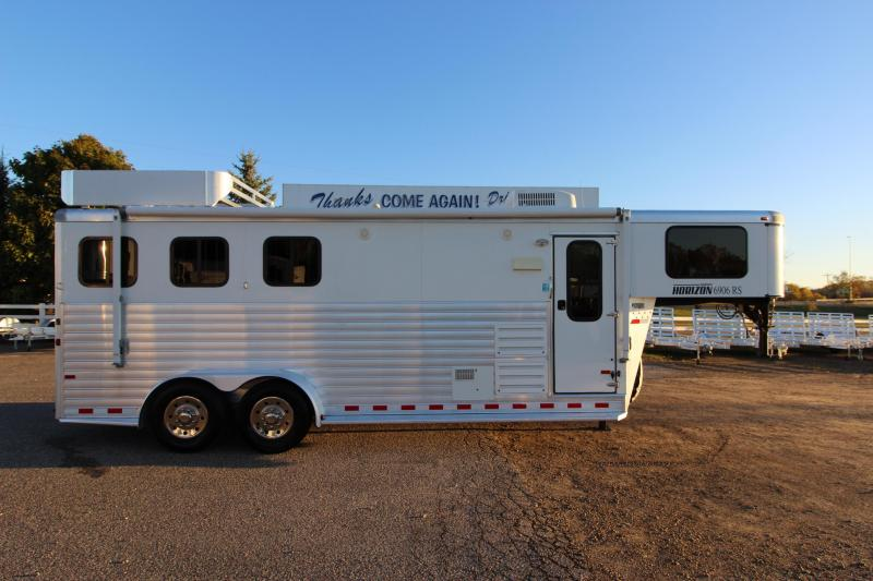 2012 Sundowner Trailers 6906 3HR GN 6' LQ Horse Trailer