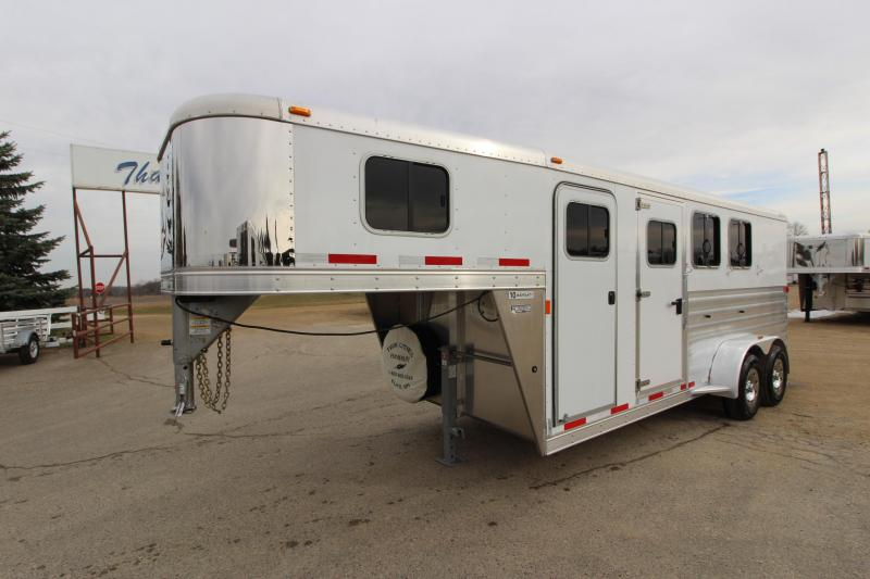 2015 Exiss Trailers 3HR GN 48 D/R Horse Trailer