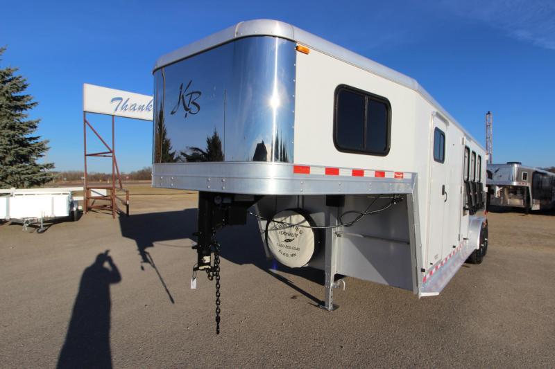 2005 Kiefer Built Genesis X340 3HR GN Horse Trailer