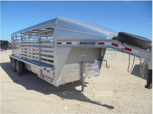 2017 Delco Trailers GP6.8X20GM Livestock Trailer