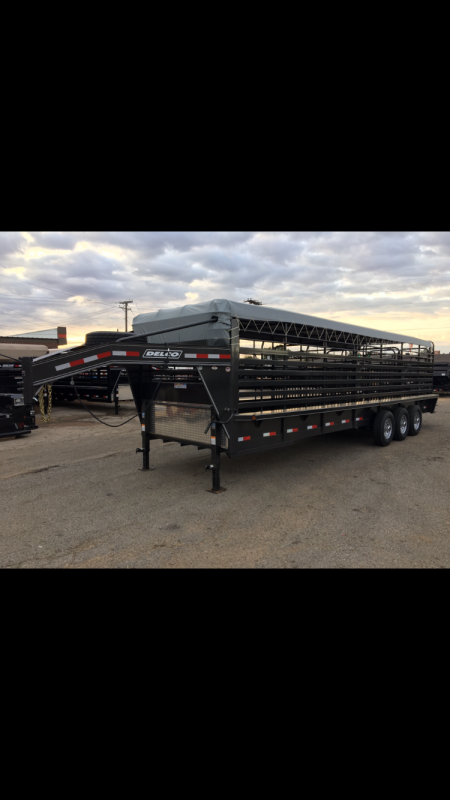 2018 Delco Trailers GB68X2837K Livestock Trailer