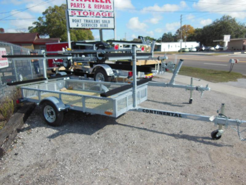 2017 Continental Trailers KT4815 Galvanized Kayak Watercraft Trailer