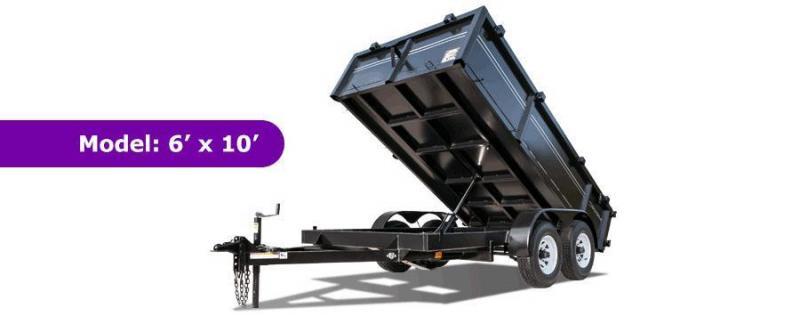6 X 10 Lowrider Style Dump Trailer