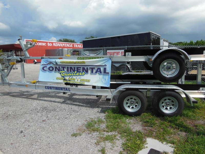 Continental Trailers CTV944-72B Galvanized Tilt Boat Trailer