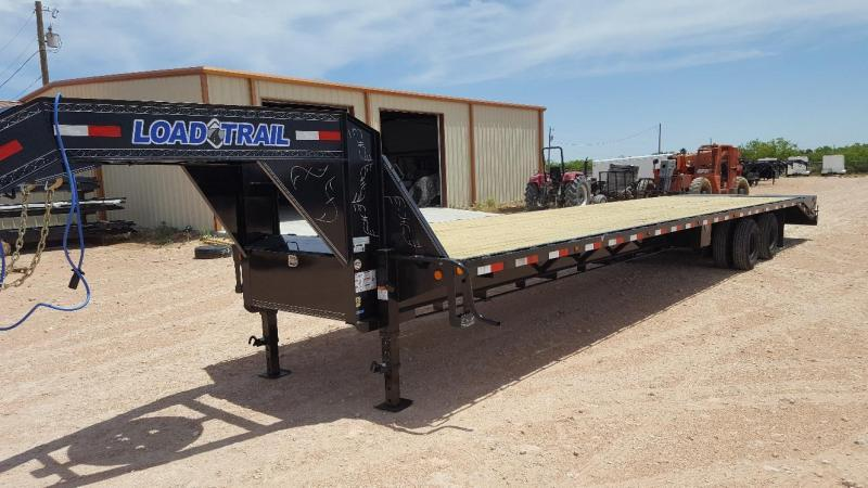 2019 Load Trail 40' Gooseneck Hot Shot Trailer w/ Max Ramps and Disc Brakes