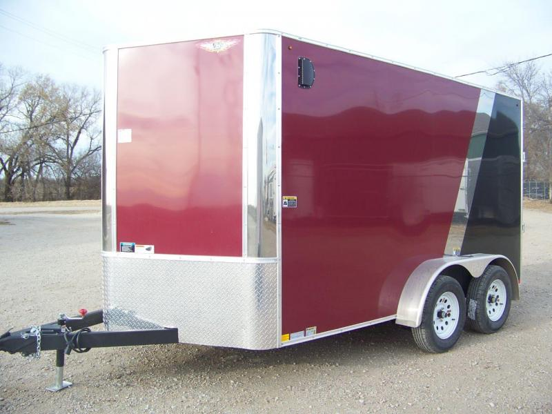 2018 H and H Trailer 7X12 Enclosed Cargo Trailer