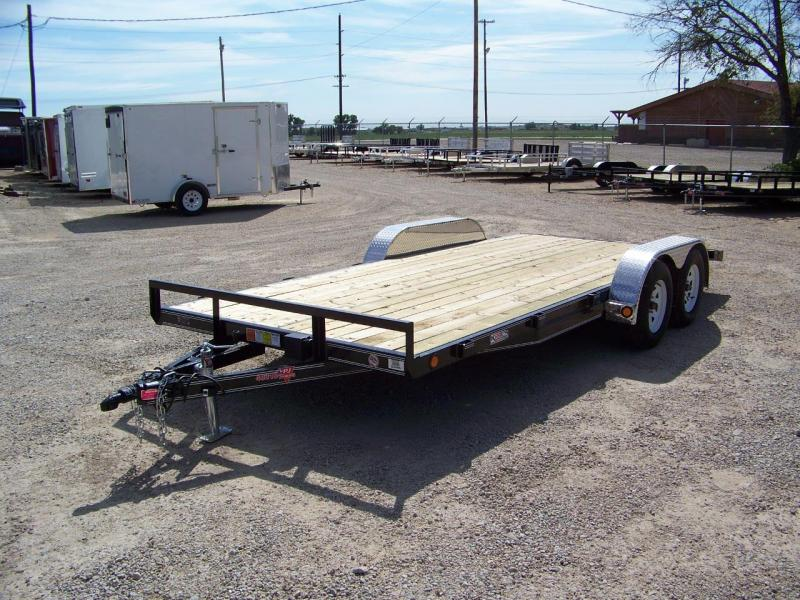 "2018 PJ Trailers 18' x 4"" Channel Carhauler Trailer"