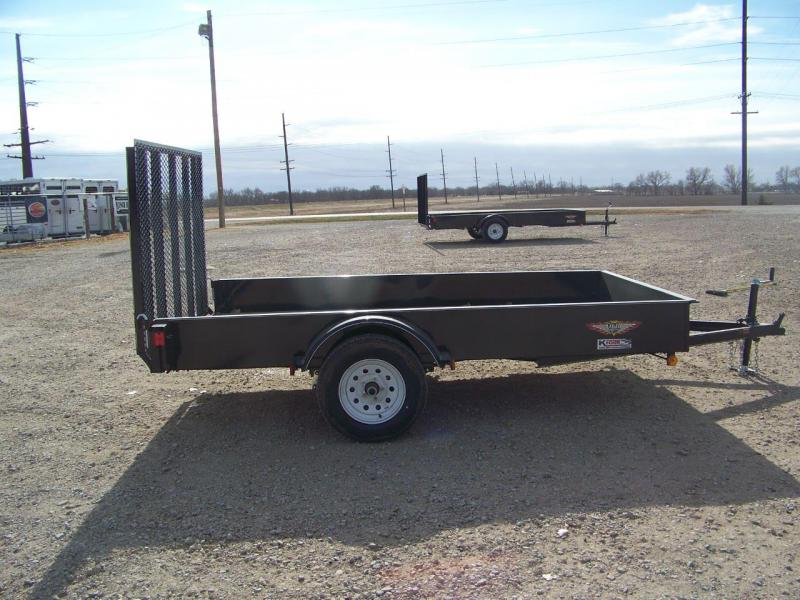 2018 H and H Trailer 76X10 Solid Side Utility Trailer
