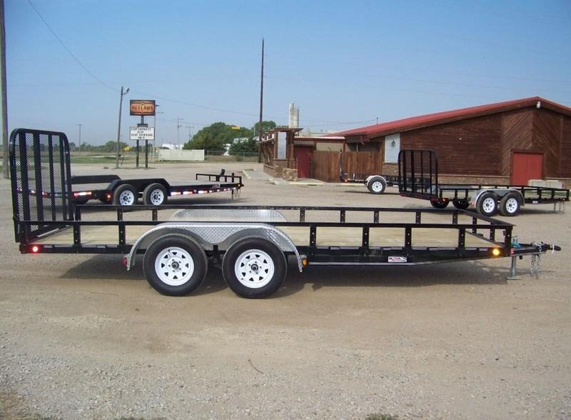 "2018 PJ Trailers 77"" Channel Utility (U7) Double Axle 18'"
