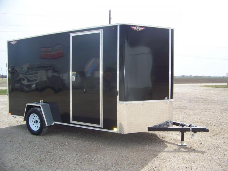 2018 H And Trailer 6X12 SINGLE FLAT TOP HH VNOSE 35K CARGO