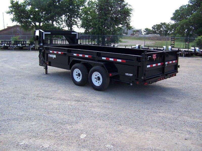 "2018 PJ Trailers 83"" Low Pro XL High Side Dump (DJ) 16'"