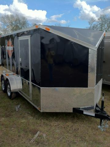 DIAMOND CARGO 6X12 TVRH HARLEY ENCLOSED CARGO TRAILER WITH SLANT V-NOSE