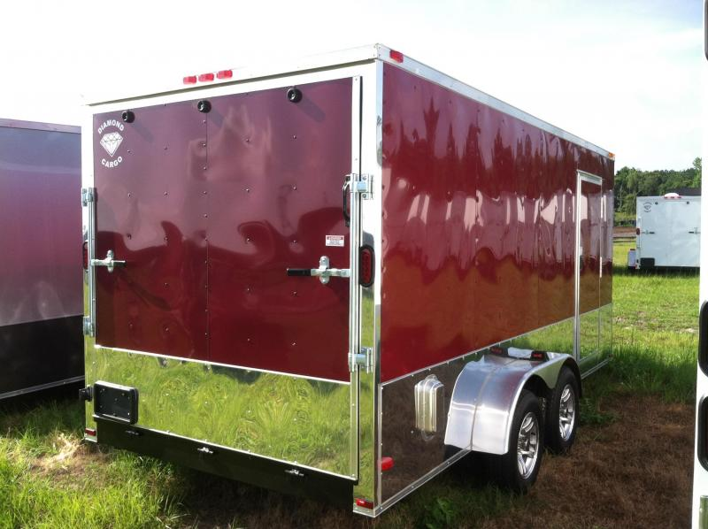 Diamond Cargo 7x16 TVRM Motorcycle Trailer/.030 Brandywine