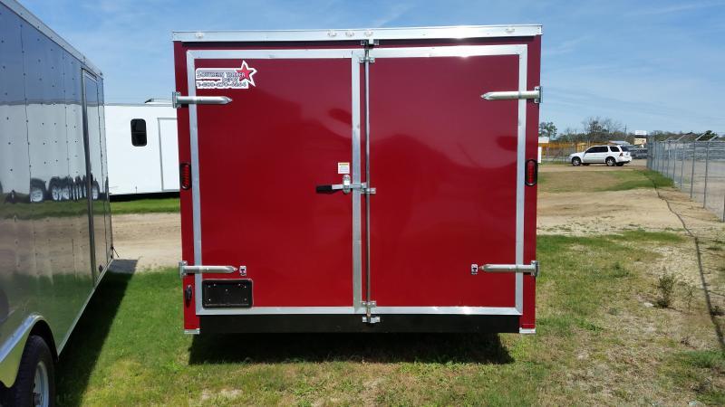 New 8.5x18 Construction Trailer Double Doors