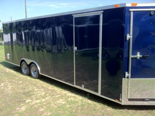 Diamond Cargo 8.5x24 Enclosed Snowmobile Trailer with 5' Ramp