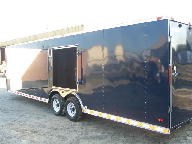 Diamond Cargo 8.5x28 VNose Enclosed Cargo Trailer Indigo Blue Color Escape Hatch Ex Tongue