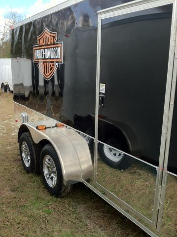 Diamond Cargo 7X14 TVRH Harley Trailer Black/Slant V/Motorcycle