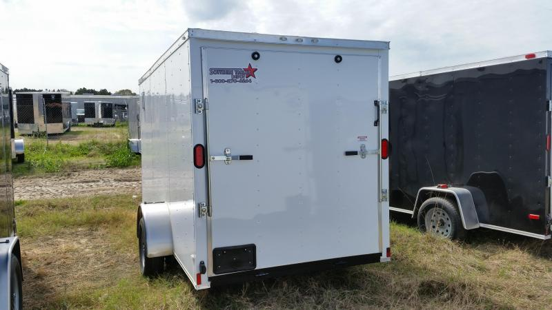New 6x12 SILVER Single Axle Enclosed Cargo Trailer