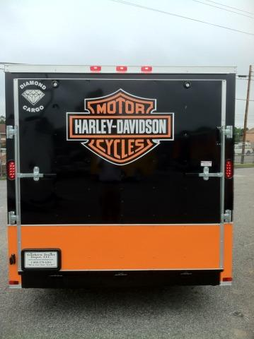 Diamond Cargo 7x16 TVRH Enclosed Harley Trailer
