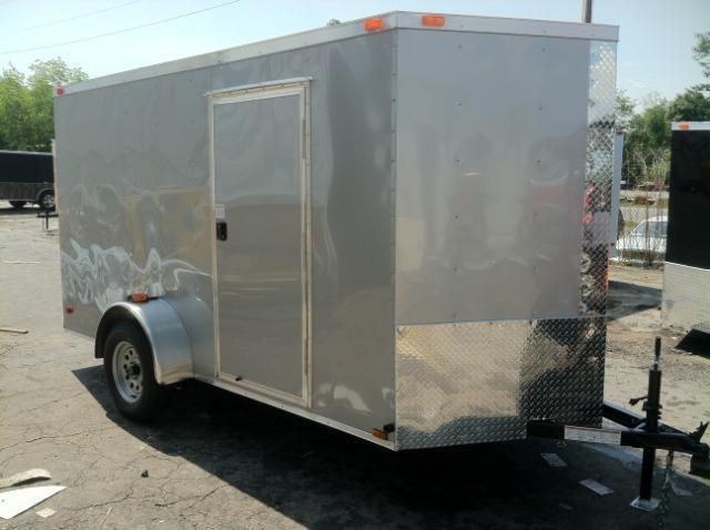 Diamond Cargo 6x12 SVR Enclosed Trailer Silver Frost
