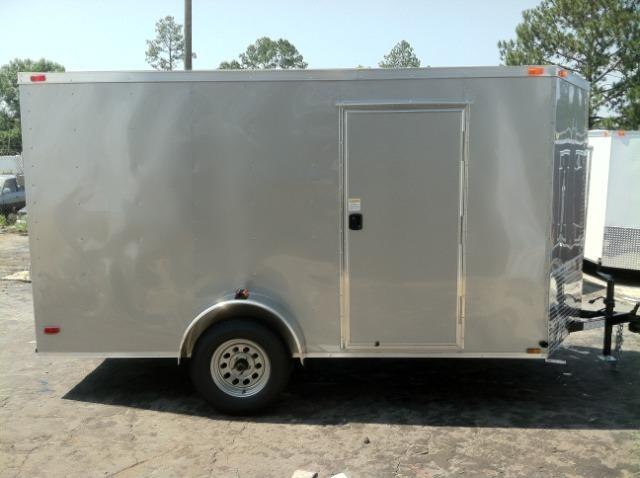 Diamond Cargo 6x12 SVR Enclosed Trailer Silver Frost