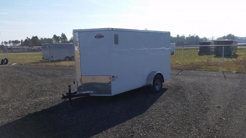 NEW Rock Solid Cargo 6x12 White Single Axle Enclosed Cargo Trailer
