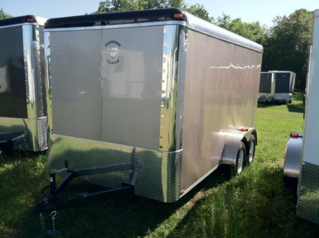 Diamond Cargo 7X14 TR Enclosed Cargo Trailer 6'8 Int.