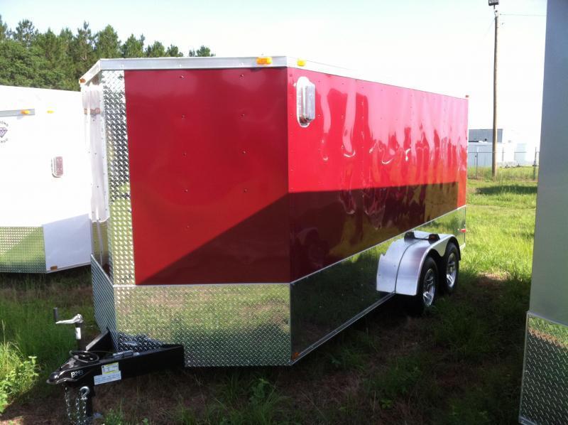 Diamond Cargo 7x16 TVRM Motorcycle Trailer/.030 Brandywine