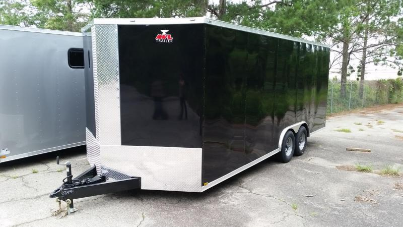 NEW 8.5x20 BLACK Enclosed Cargo Trailer
