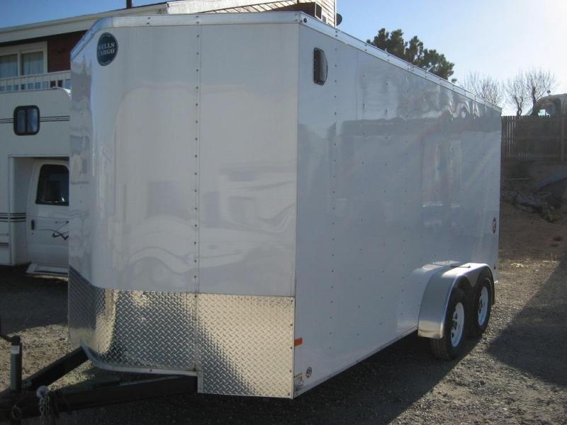 2016 Wells Cargo 7X16 Enclosed Cargo Trailer