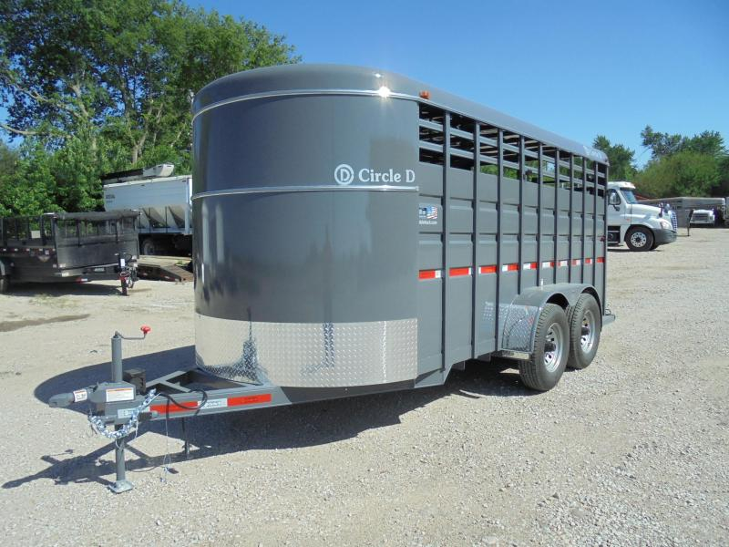 D And D Trailers >> 2019 Circle D 6x16 Bh Livestock Trailer Klute Truck And Trailer In