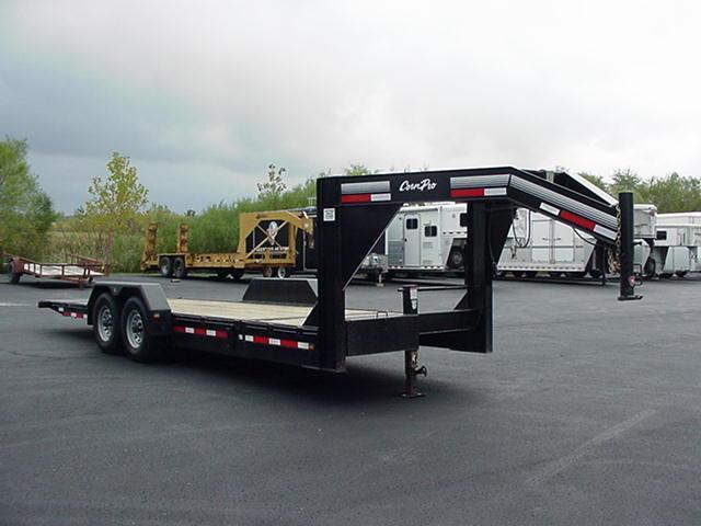 "2012 CornPro  81"" x 23' (4 +19') 14K Tilt Deck GN Equipment Trailer"