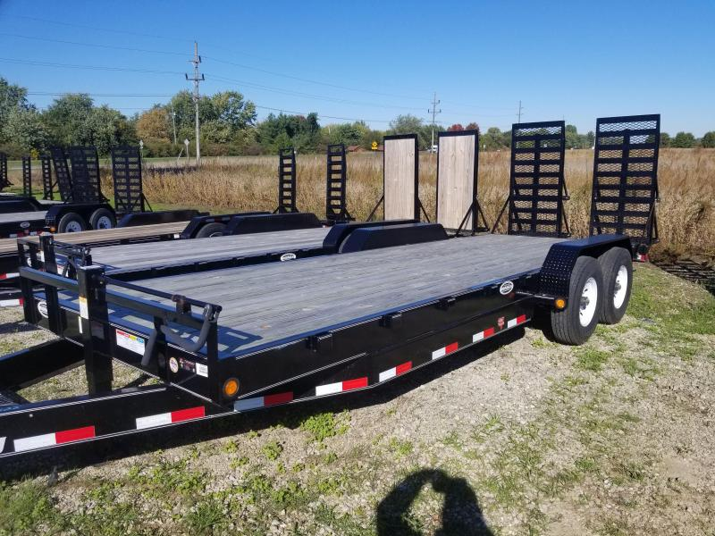 "2017     80x22(20+2' Dovetail) PJ Trailers C8 8"" Channel Equipment Trailer - w/ 31x66 HD Fold-up Ramps (GVW: 16000)"