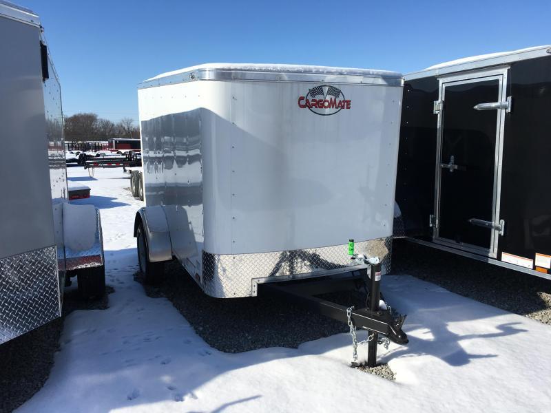 2018 5x8 Cargo Mate SS58SA Enclosed Cargo Trailer - White (Rear Swing Door)(GVW: 2990)