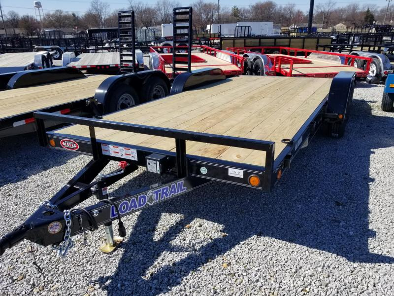 2018 83x18(16+2' Dovetail) Load Trail CH182 Car / Racing Trailer - w/ 5' Rear Slide-in Ramps (GVW: 7000)