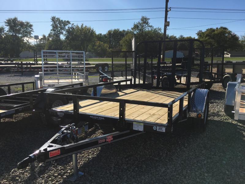 "2018 72x10 PJ Trailers U2 72"" Single Axle Channel Utility Trailer - Straight Deck w/ 4' Fold-up Gate (GVW: 2990)"