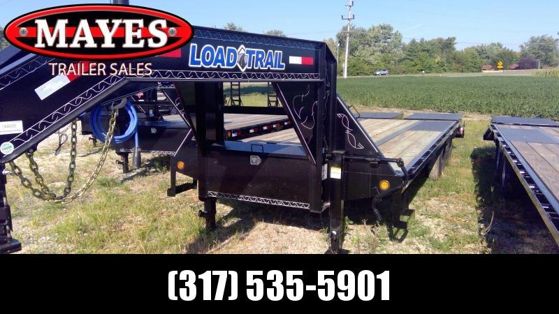 2019 102x25 (20+5) Load Trail GP0225102 Equipment Trailer - Self Clean Dovetail - Max Ramps - Tool Box (GVW:  22000)