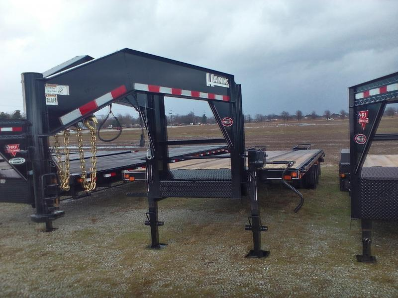 2017 x25(20+5') Hank HM-G10K Equipment Trailers w/ 5' Flip-over Ramps - (GVW: 23500)(Gooseneck)