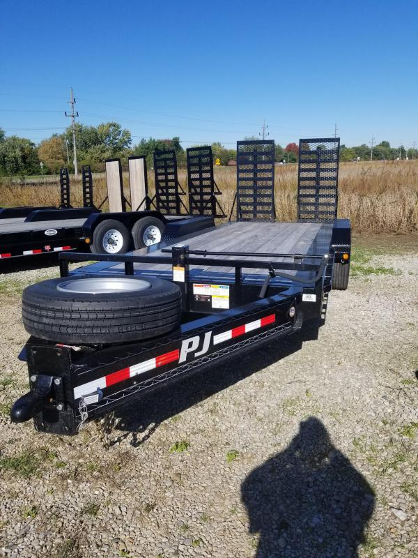2018 83x20(18+2' Dovetail) PJ Trailers H5 Classic Pintle with Duals Trailer - w/ 31x66 HD Fold-up Ramps (GVW: 20000)(17.5 Tire and Wheels)