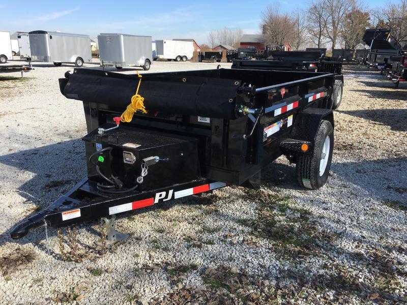 "2018 5x8 PJ Trailers D5 60"" Utility Dump Trailer - (Split Gate)(Tarp Kit)(GVW: 4995)"