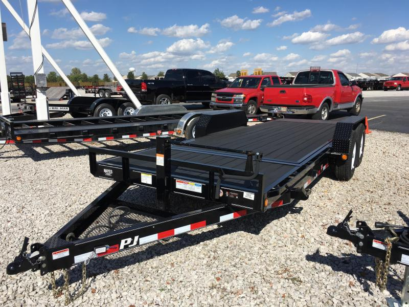 "2018 83x20(4' Stationary + 16' Tilt) PJ Trailers T6 6"" Channel Equipment Tilt Trailer - (Blackwood Pro Lumber)(GVW: 14000)"