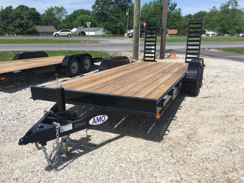 2018 82x18(16+2 Dovetail) American Manufacturing Operations A9918CE Equipment Trailer - w/ Fold-up Ramps (GVW: 9990)