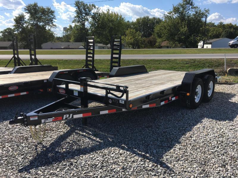 "2018 83x16 PJ Trailers CC 6"" Channel Equipment Trailer - Straight Deck w/ 5' Slide-in Ramps (GVW: 14000)"
