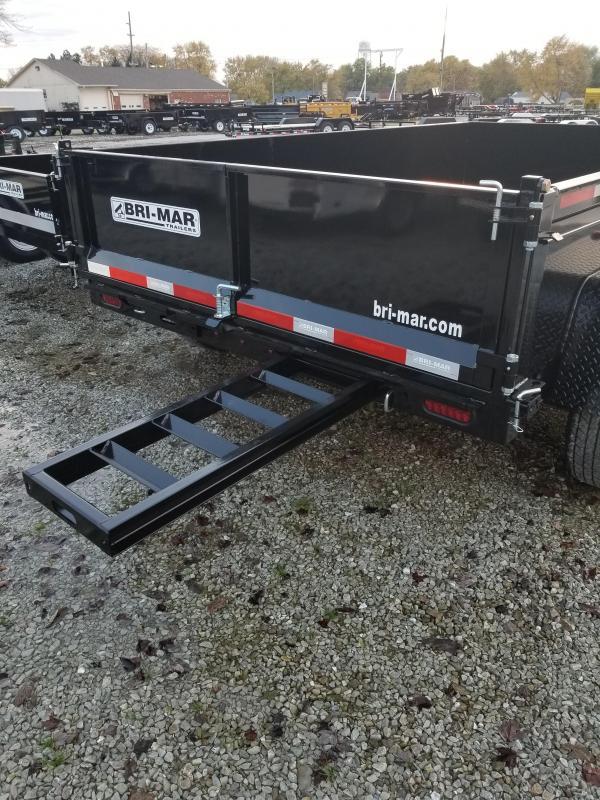 2018 7x12 Bri-Mar DT712LP-LE-12 Dump Trailer - (Split/Spreader Gate)(GVW: 12000)