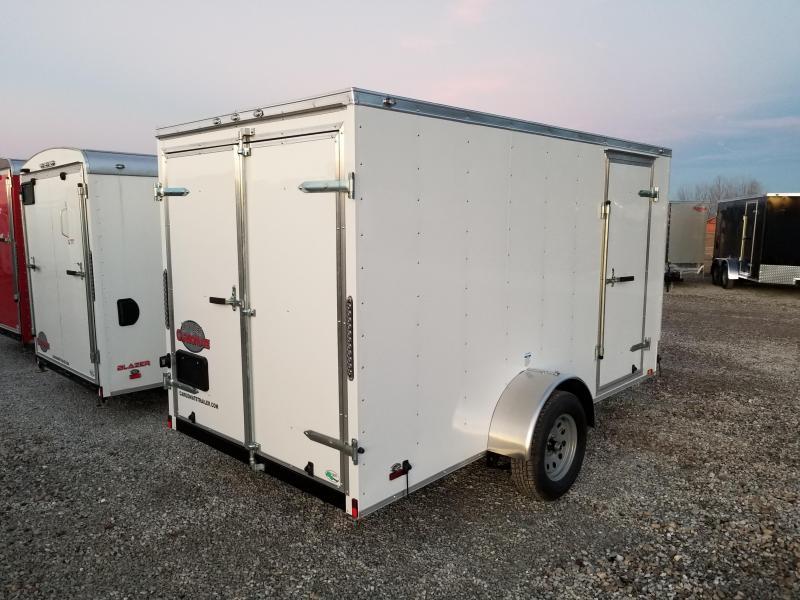 "2018 6x12 Cargo Mate SS612SA Enclosed Cargo Trailer - Diamond Ice (DD)(6"" Extra Height)(GVW: 2990)"
