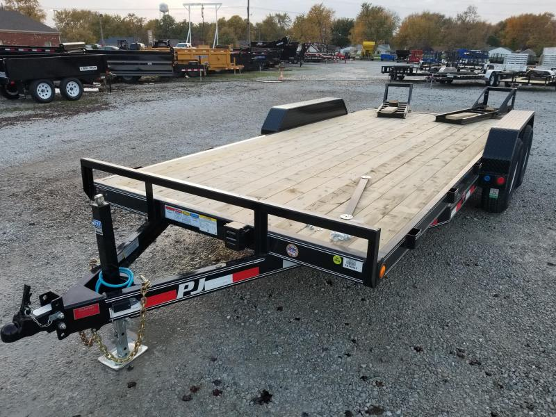 "2018 83x18(16+2' Dovetail) PJ Trailers CE 5"" Channel Equipment Trailer - w/ 2 Fold-up Ramps (GVW: 9899)"