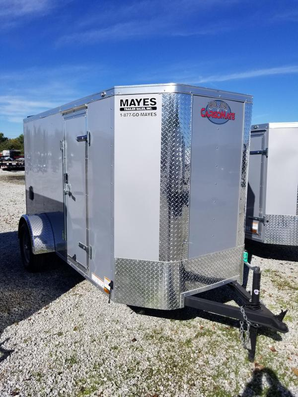"""2018 5x10 Cargo Mate EHW510SA Enclosed Cargo Trailer - Diamond Ice (RD)(GVW: 2990)(6"""" Extra Height)(Tapered Nose)"""